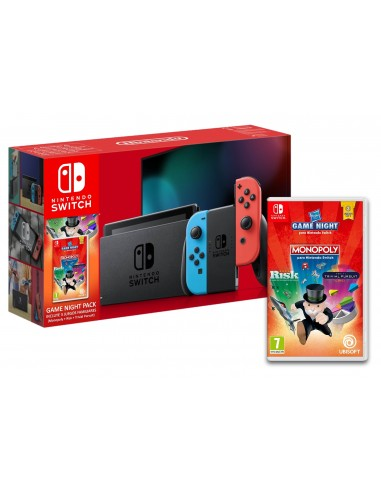 5324-Switch - Nintendo Switch Consola Neon + Monopoly + Risk + Trivial-0245496452623