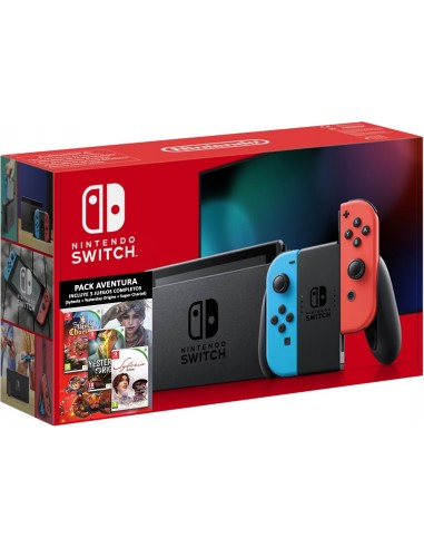 5325-Switch - Nintendo Switch Consola Pack Syberia- Yesterday- Sup Chariot-0045496778620