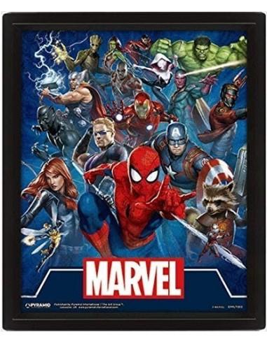 5504-Merchandising - Poster 3D Cinematic Icons Marvel-5051265845528