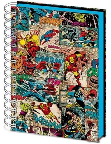 5503-Merchandising - Cuaderno A5 Espiral Tapas 3D Marvel Comic Splash-5051265722843