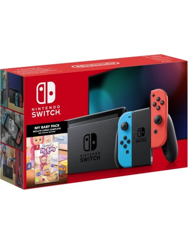 5514-Switch - Nintendo Switch Consola Neon + My Universe: My Baby-7145454876290