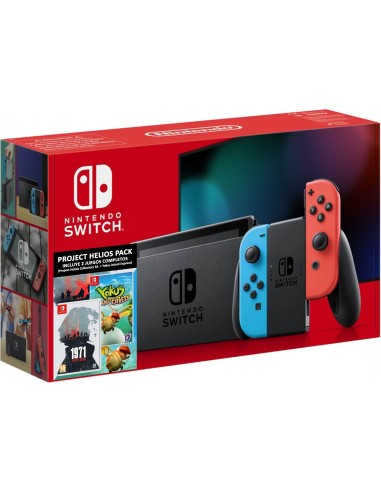5516-Switch - Nintendo Switch Consola Neon + 1971 Project + Yokus Island-7145454526294
