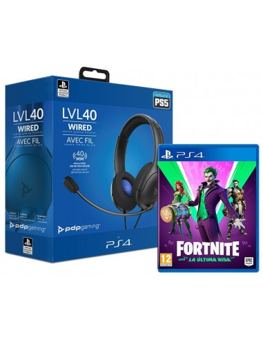 5508-PS4 - Fortnite Lote La Ultima Risa + LVL40 Auricular Wired Negro-7708056066430