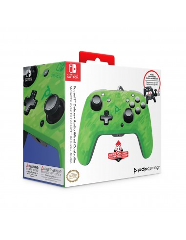 5005-Switch - Faceoff Deluxe Audio Wired Controller Verde Camo Licenciad-0708056067724
