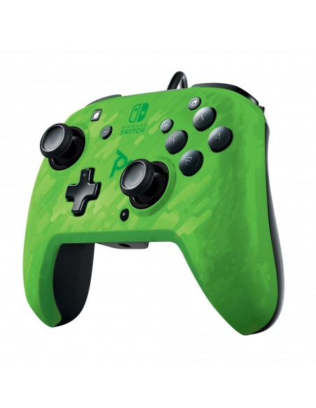 -5005-Switch - Faceoff Deluxe Audio Wired Controller Verde Camo Licenciad-0708056067724