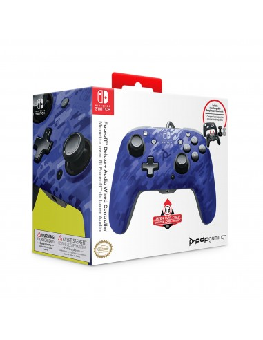 3183-Switch - Faceoff Deluxe Audio Wired Controller Azul Camo Licenciad-0708056065690