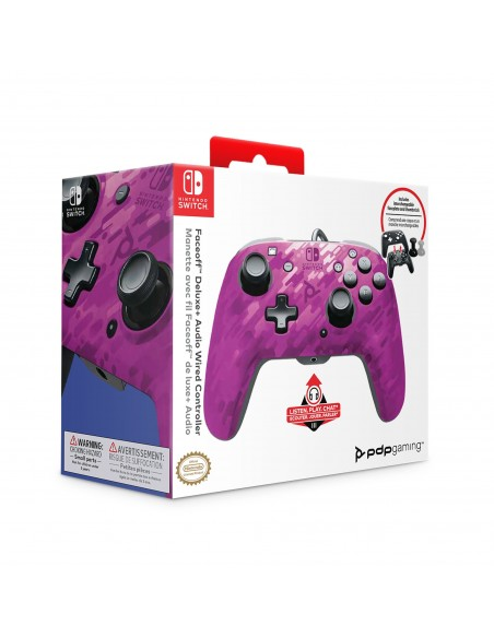 -1069-Switch - Faceoff Deluxe Audio Wired Controller Morado Camo Licenci-0708056065713