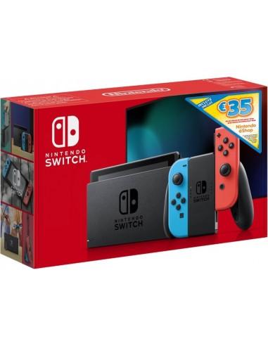 5641-Switch - Nintendo Switch Consola Neon New Version + 35€ eShop-0045497582882