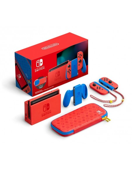 -5677-Switch - Nintendo Switch Consola Edicion Limitada Mario (Rojo/Azul)-0045496453206