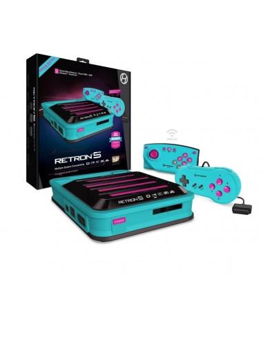 5721-Retro - Consola Retron 5 HD Azul Hyper Beach-0810007711898